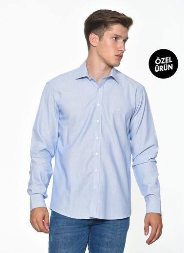 Beymen Business 4B2019200051 Lacivert Regular Fit Gömlek Armürlü Lacivert